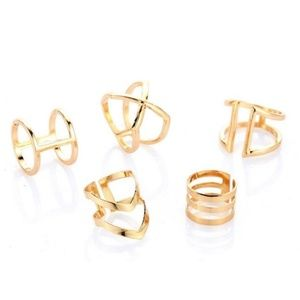 5 peice ring set